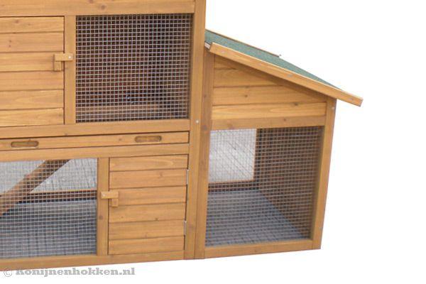 Fonkelnieuw Groot houten konijnenhok. EE-69